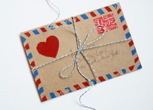 DIY Airmail Stamp