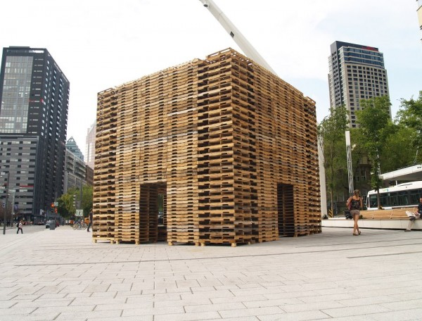 Giant Meditation Chamber Made from Shipping Pallets