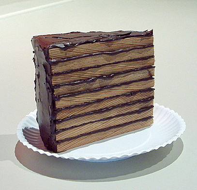Cake Sculptures Made From Wood