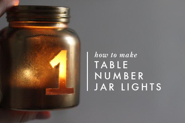 DIY Table Number Jar Lights