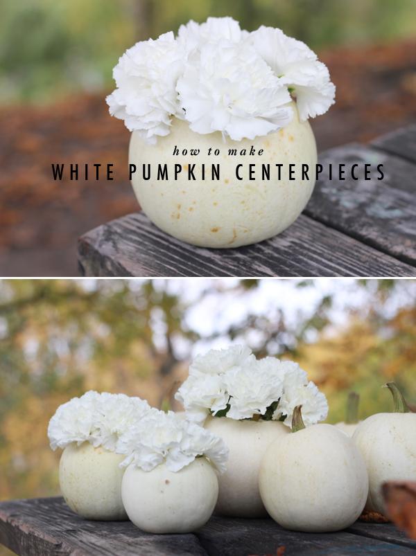 How-To: White Pumpkin Centerpieces