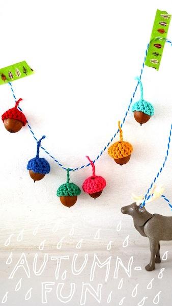 How-To: Crocheted Acorn Garland