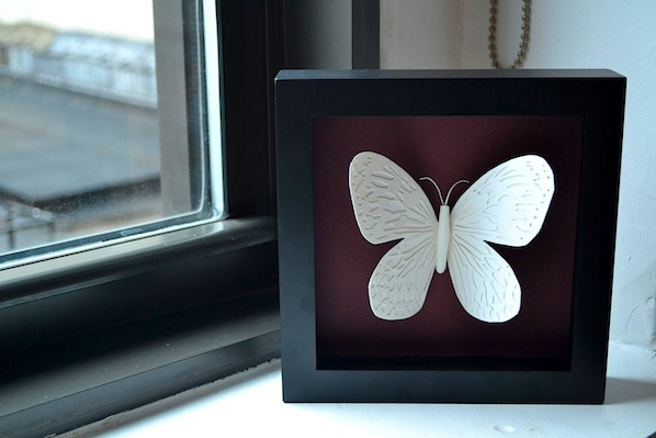 How-To: Framed Paper Cut Butterfly