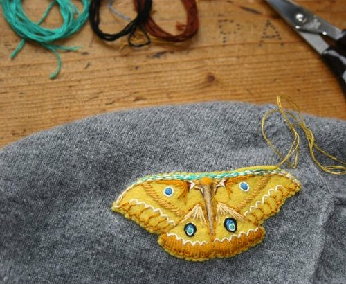How-To: Mend Moth Holes with Beautiful Appliqued Moths