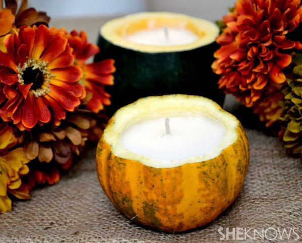 How-To: Mini Gourd Candles