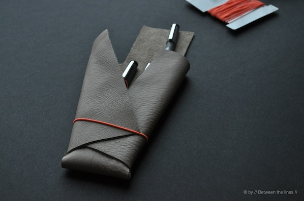 How-To: No-Sew Leather Pencil Case