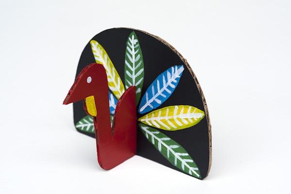 Cardboard Craft for Turkey Day