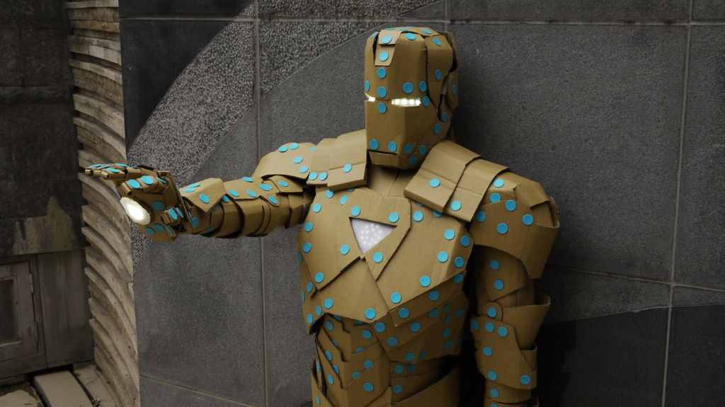 Ironman Mark VI Built from Makedo and Cardboard