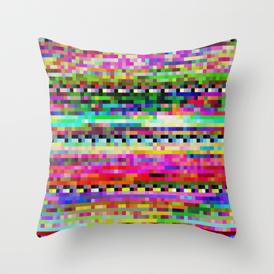 Glitch Throw Pillow Covers