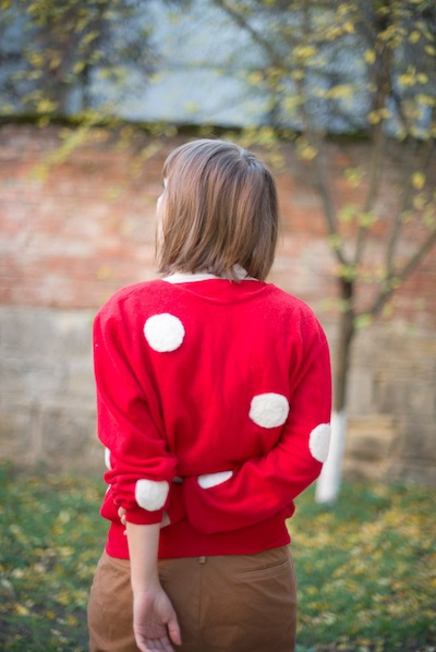 How-To: Needle Felted Polka Dot Sweater