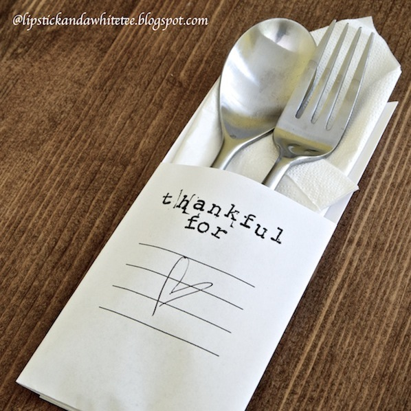 How-To: Minimalist Thanksgiving Table Setting
