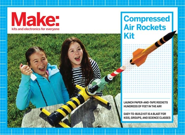 In the Maker Shed: Getting Started with Compressed Air Rockets Kit