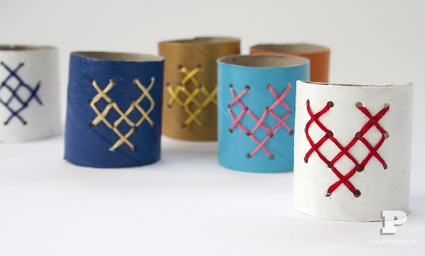 How-To: Toilet Paper Tube Napkin Rings