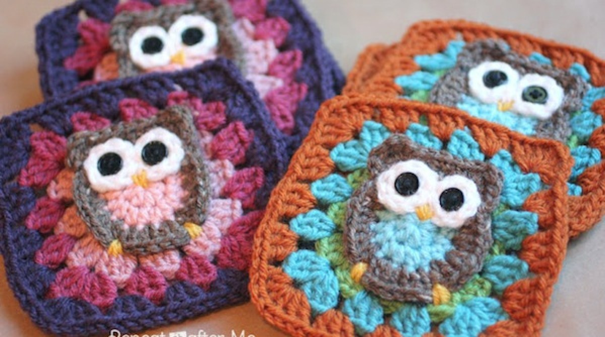 How-To: Crocheted Owl Granny Square