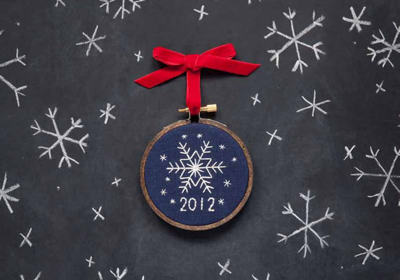 How-To: Stitched Snowflake Ornament