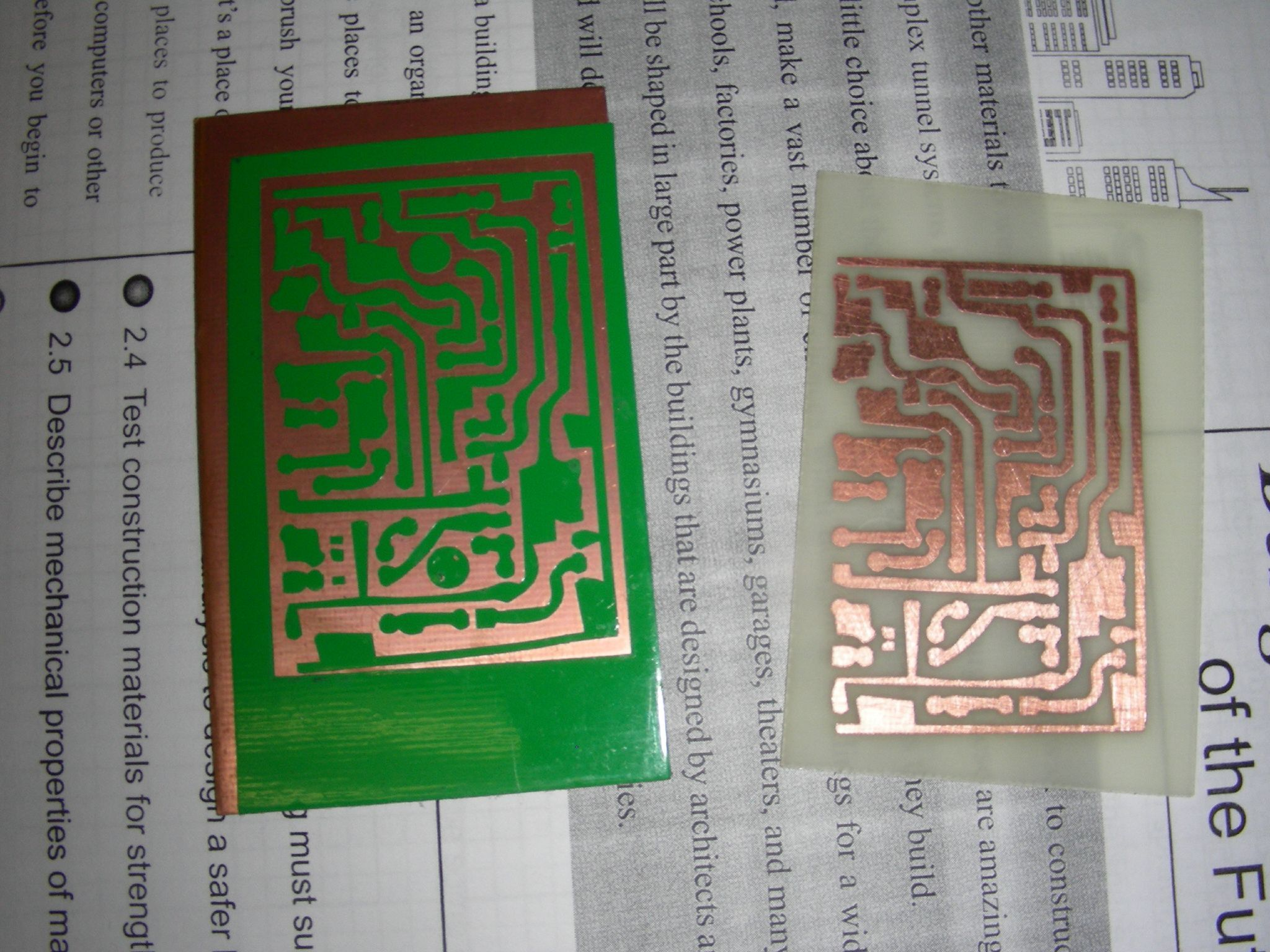 Vinyl Cut Pcb Resist Make Circuit Board After Etching Process