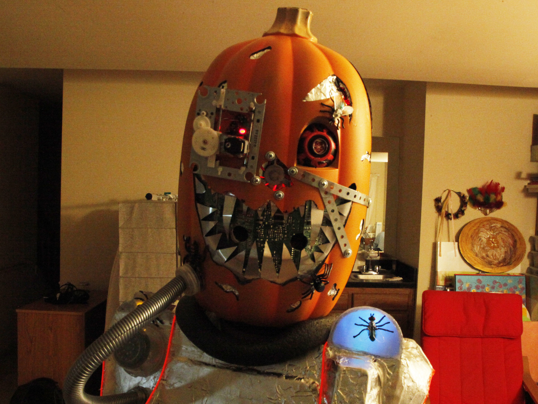 Mutant Cyborg Pumpkin Halloween Costume