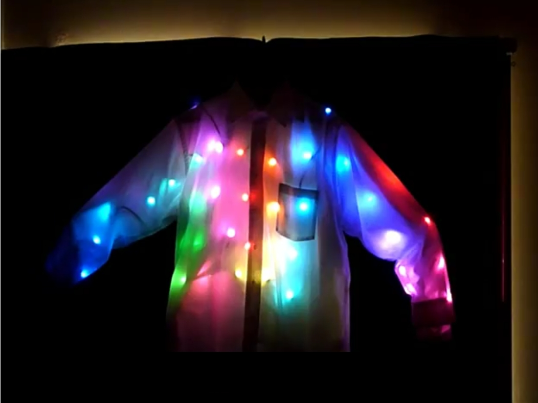 Android-Controlled LED Light Shirt