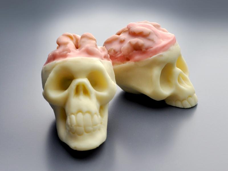 Halloween Skull Truffles