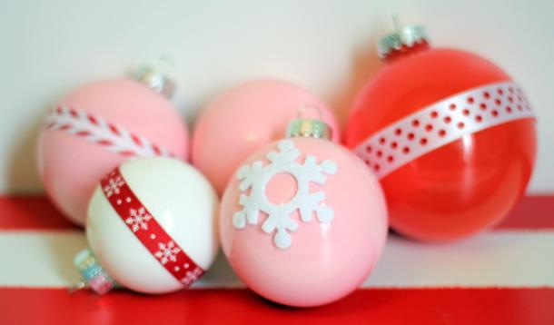 Painted Christmas Tree Ornaments
