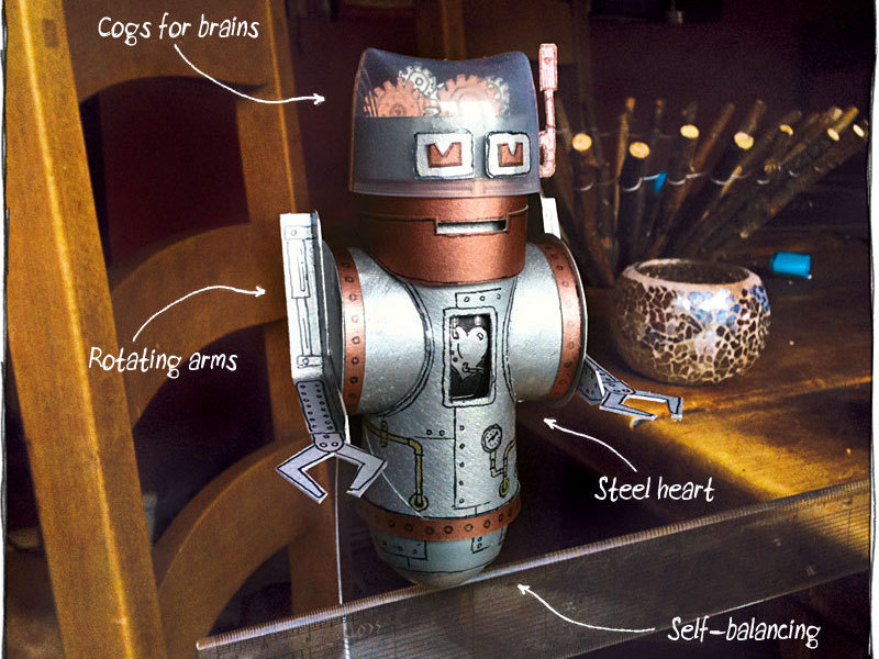 Balancing Robot from Recycled Materials