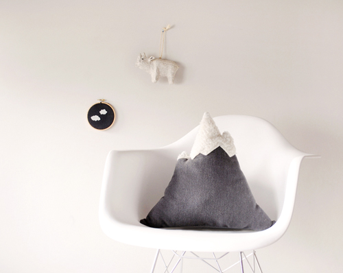 Holiday Gift Idea: Mountain Pillow