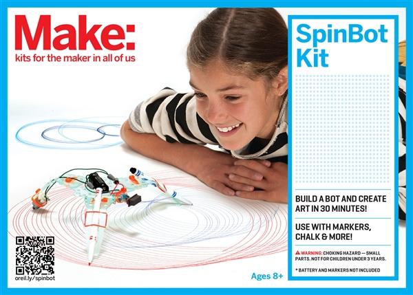 New Make: SpinBot Kit in the Maker Shed
