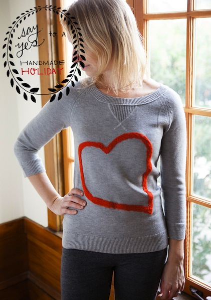 How-To: Felted Heart Sweater