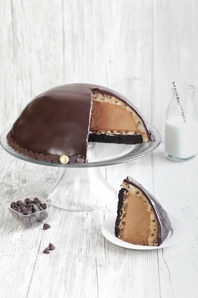Recipe: Chocolate Mousse Cookie Dough Bombe
