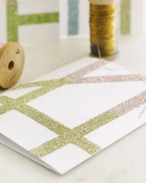 How-To: Easy Glitter Notecards
