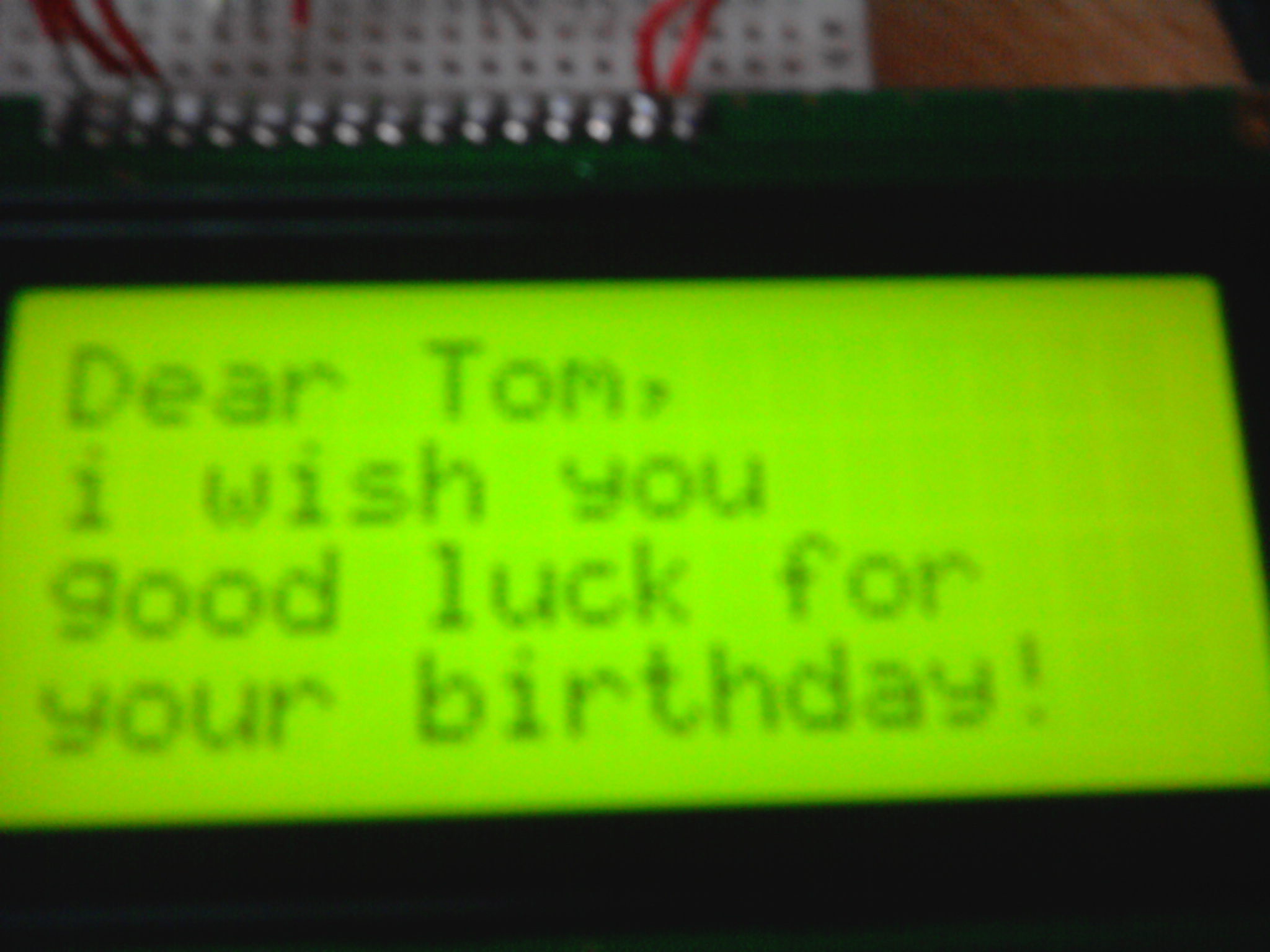 Arduino Lcd Birthday Card Make Can Use The Other Cards This Project For Beginners Good Luck