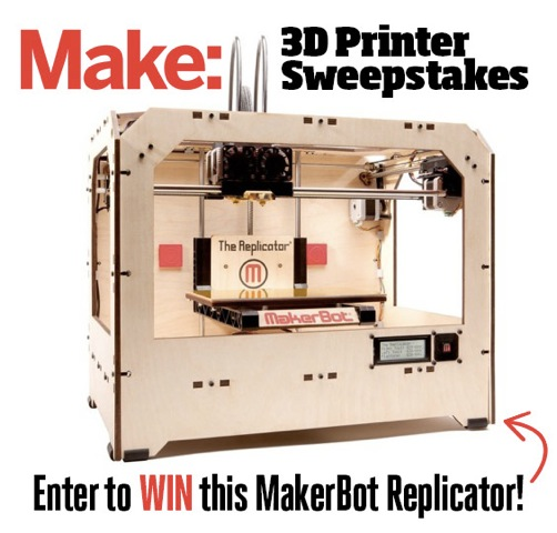 Have You Entered Our 3D Printer Sweepstakes? (This Contest is Now CLOSED)
