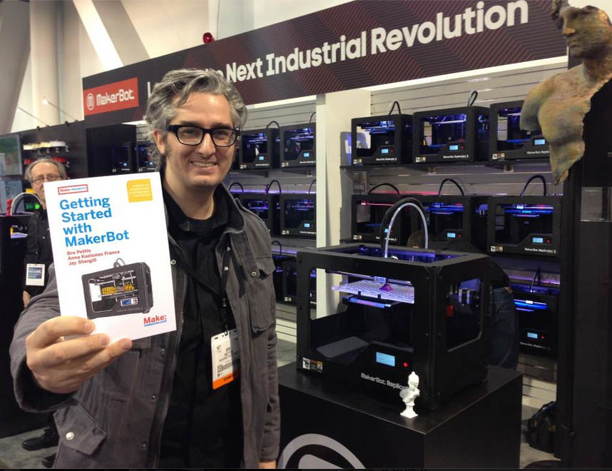 Bre Pettis Shows Off New MakerBot Book at CES