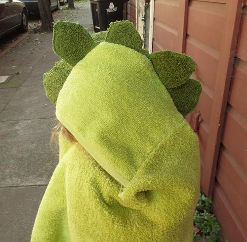 How-To: Stegosaurus Towel Hoodie