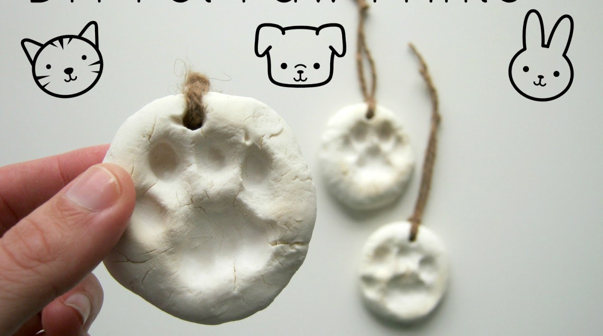 Diy Paw Print Ornaments Make