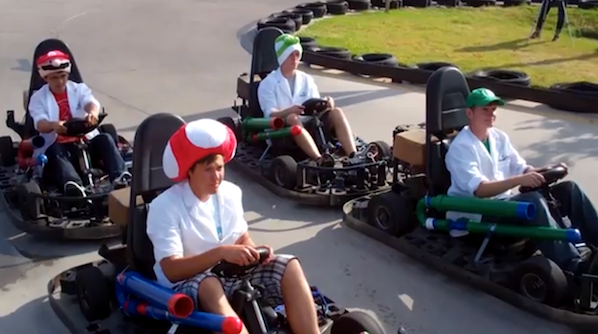 Real-life Mario Kart with RFID-Tagged Special Items