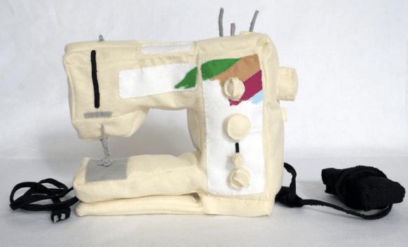 Sewing Machine Soft Sculpture