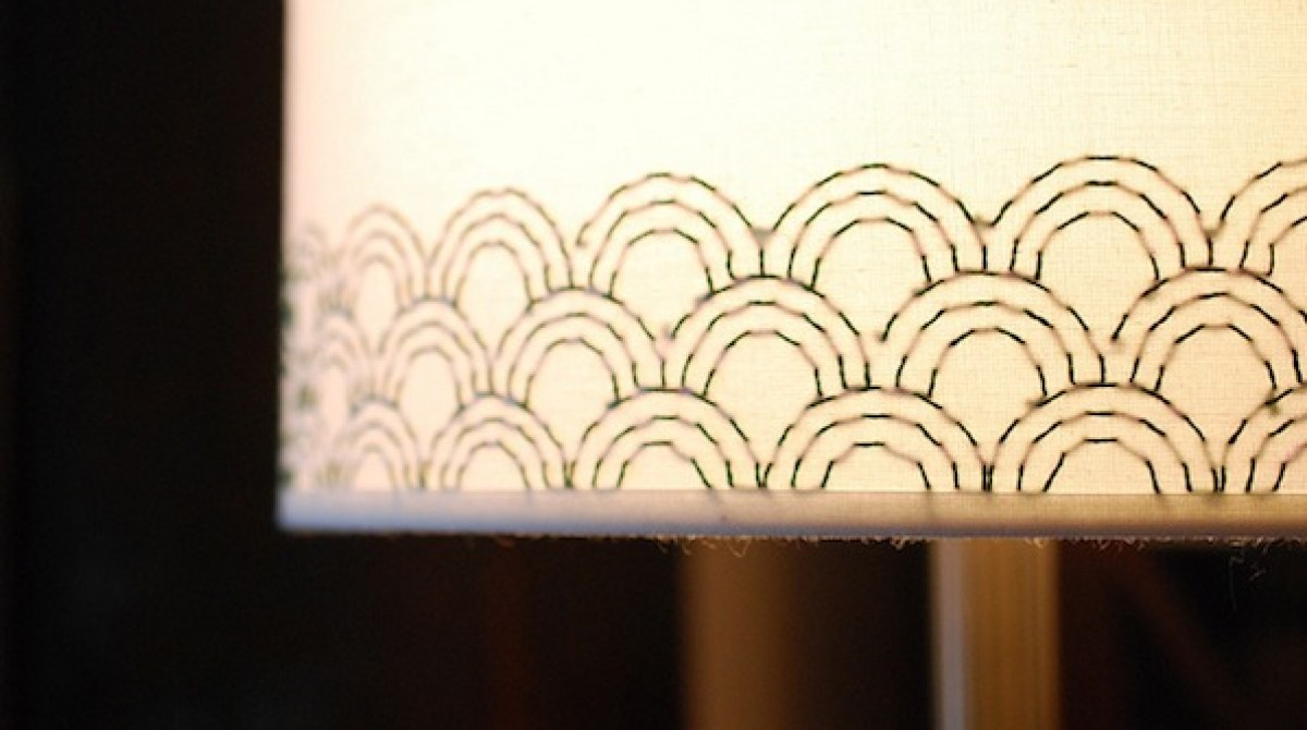 How to embroidered lampshade make article featured image aloadofball Choice Image