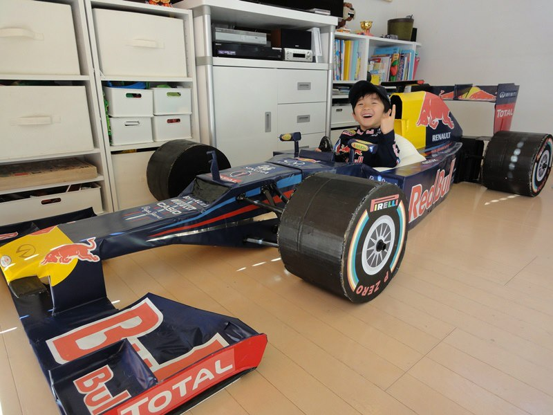 Making a Red Bull F1 Car with Cardboard