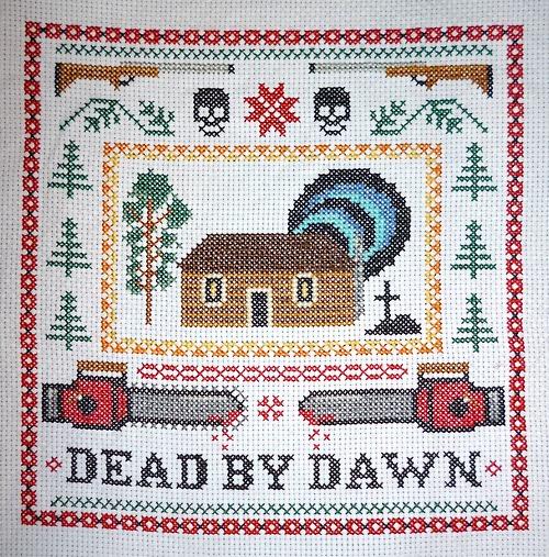Evil Dead Cross-Stitch Sampler