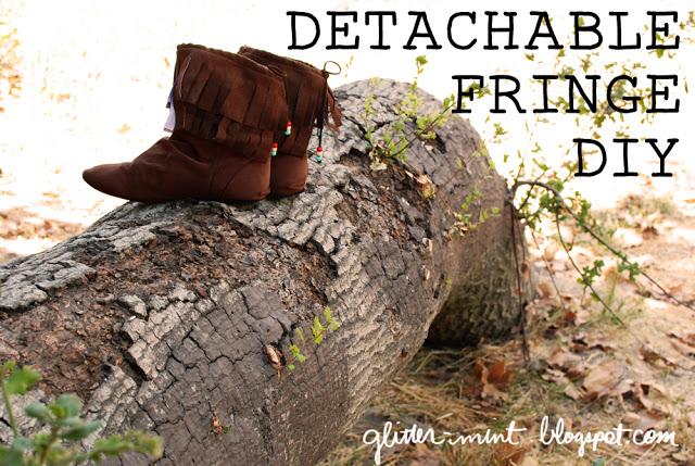 DIY Fringe for Your Boots