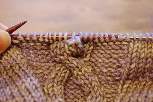 How-To: Crochet Bobbles in a Knitting Project