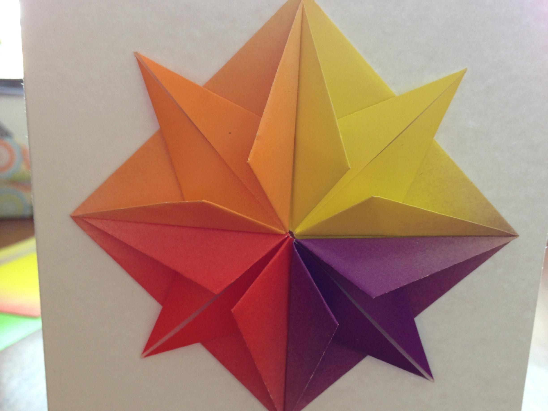 Origami Star Amp Greeting Card Make