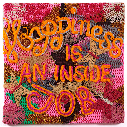 Olek's Crocheted Text Works
