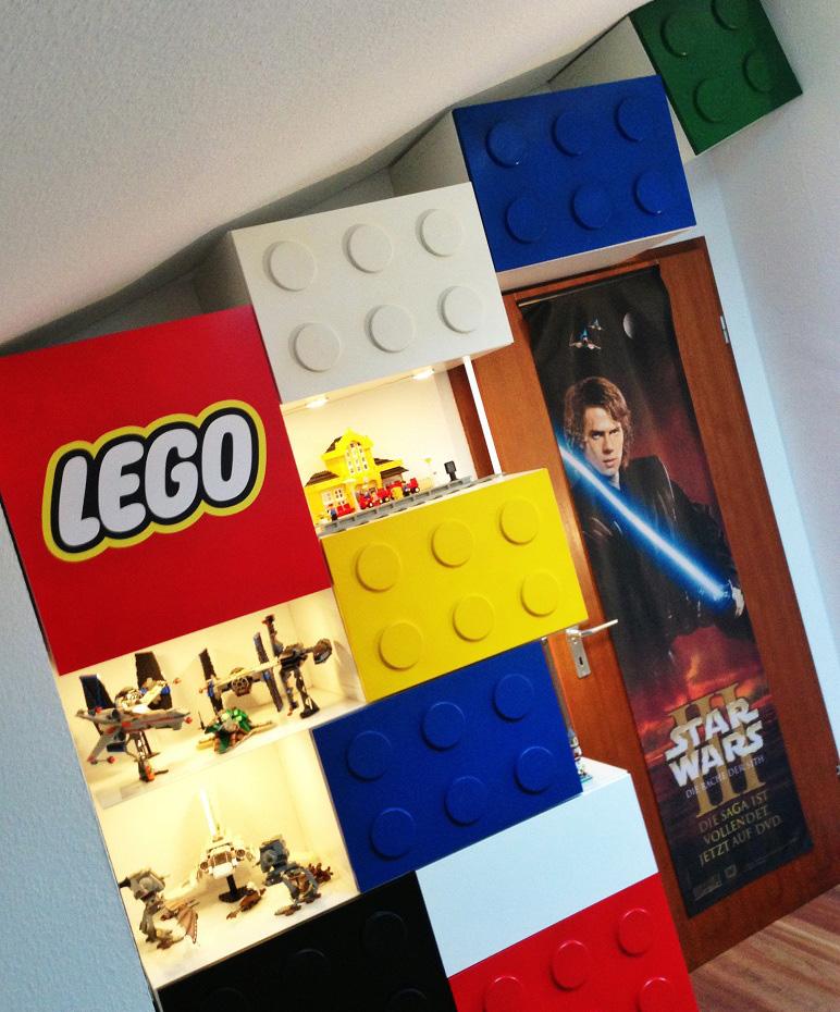 Ikea Cabinets Transformed Into Lego Storage