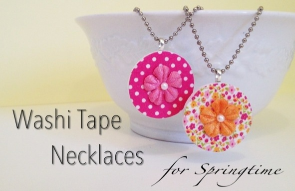 Springtime Washi Tape Necklaces