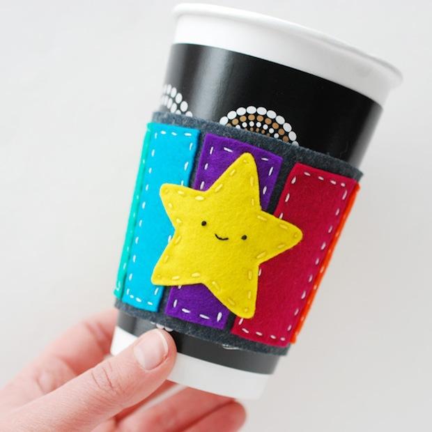 How-To: Mario-Inspired Rainbow Road Coffee Cuff