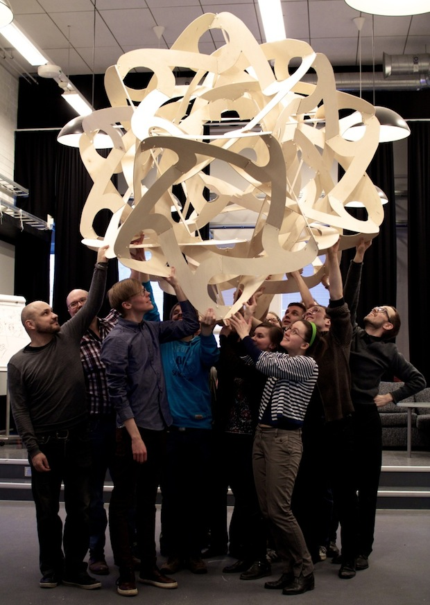 Building a Mathematical Hanging Sculpture in an Hour