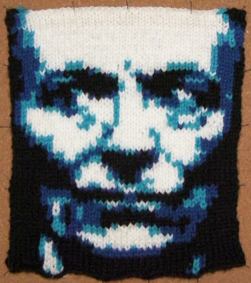 Knitted Portraits of Dr. Who Actors