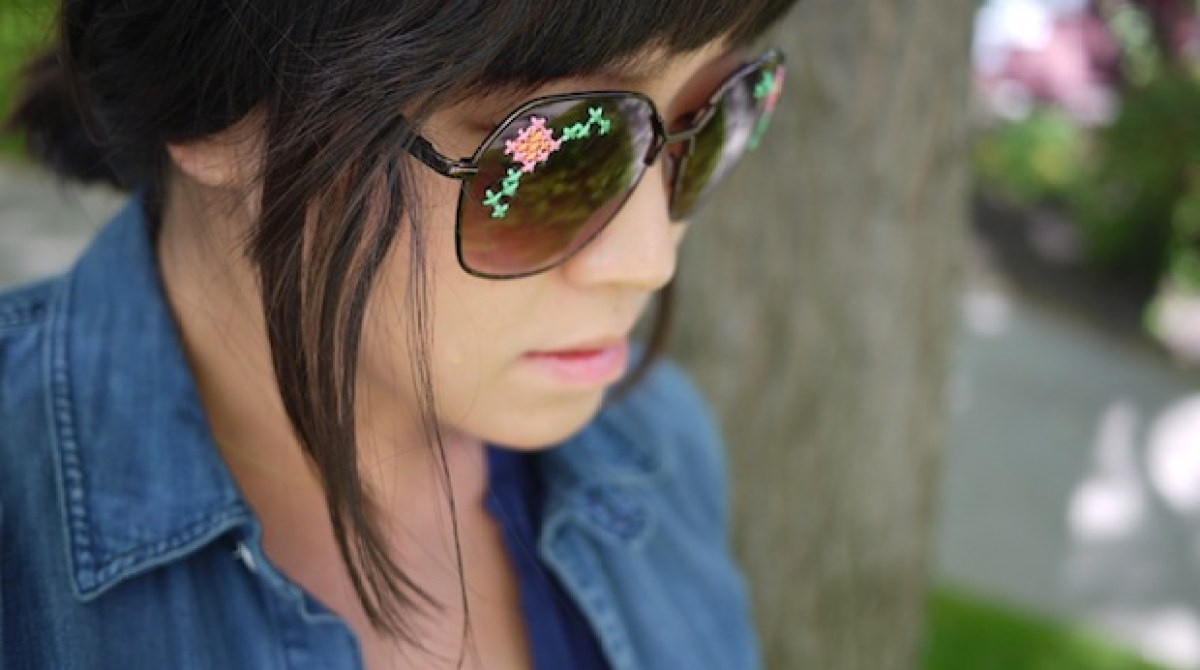 How-To: DIY Embroidered Sunglasses